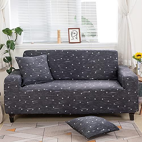 Funda de sofá geométrica elástica para Sala de Estar, sofá de Esquina seccional Moderno, Funda Protectora para sofá, Protector de Silla A2 de 4 plazas