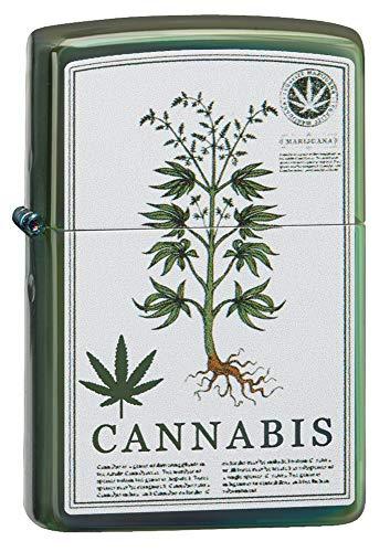 Zippo Cannabis Design Green