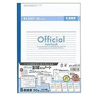 アピカ ノート オフィシャル B罫 副線入り セミB5 6BZ3FCX5G 5色セット