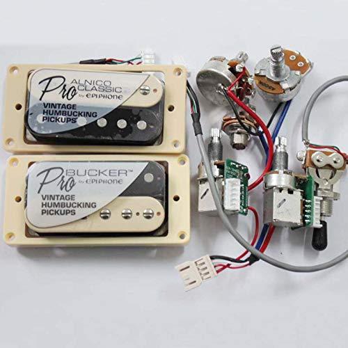 1 Set ProBucker Alnico Electric Guitar zebra Humbucker Pickups with Pro Wiring Harness For EPI