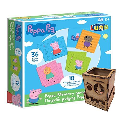 Ecommur Juego de Memoria Peppa Pig Juguetes concentración/Memoria (3-4 años)