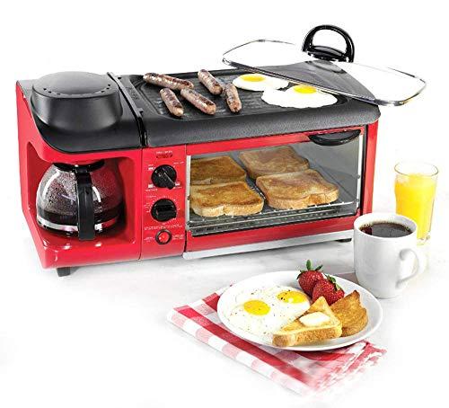 BAIMENG El Desayuno de la máquina, 3-en-1 Multi-función de Hogares Fabricante Mini eléctrico Horno Tostador de café con la función de temporización, Pizza de Pan liqiang96