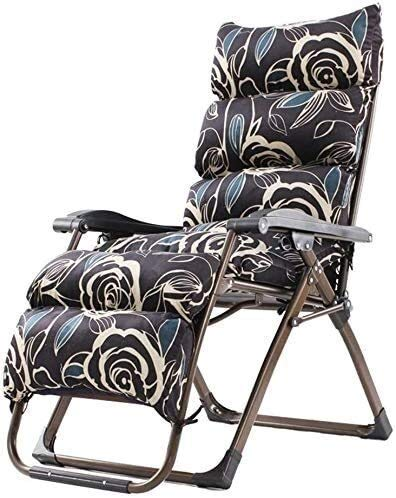 FTFTO Chaises Pliantes d'extérieur Office Life Chaise inclinée Chaise Longue Transat Portable Chaises de Jardin Zero Gravity