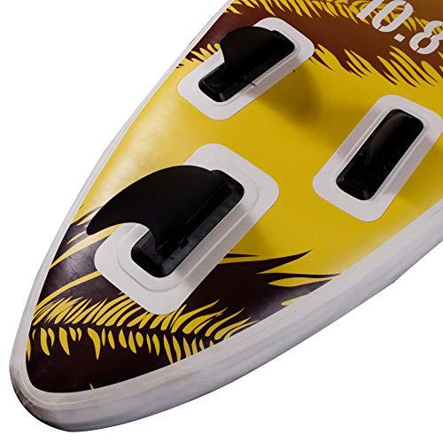 Suprfit SUP Board I Stand up Paddle Board I Komplettset: Paddelboard, Transporttasche, Paddel, Luftpumpe, Sicherungsleine, Reparaturset I Modell Hokulani: 330 x 78 x 15 cm | max. 130 kg