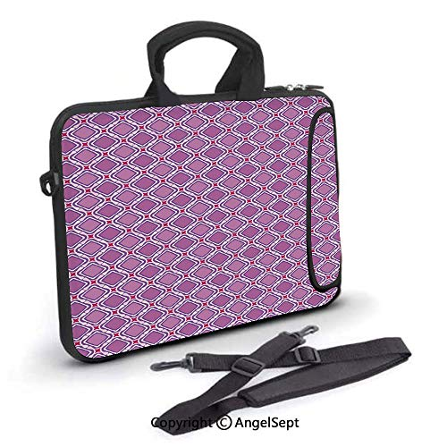 15 inch Laptop Shoulder Bags,Continuous Pattern with Rounded Squares and Star,Waterproof,Portable,Compatible iPad,MacBook Pro,Air,Surface