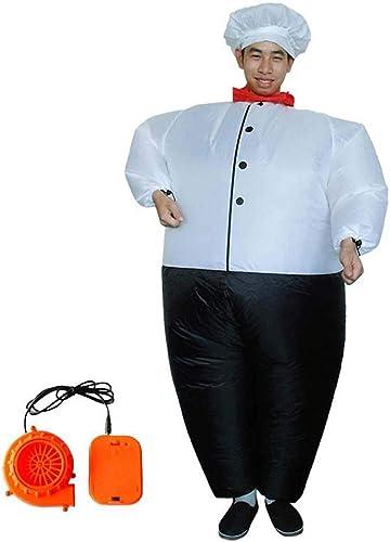 los clientes primero FUSKANG Ropa Inflable Navidad de Halloween Cosplay para Adultos Chef Chef Chef Gordo Ropa Inflable Carnival Party Activity Props Ropa  barato en línea