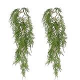 DWANCE 2pcs Hiedra Artificial Verde Colgante Plantas Artificiales Trepadoras Plantas de...
