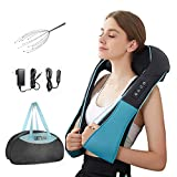 Shiatsu Back Shoulder and Neck Massager with Heat Deep Tissue 3D Kneading Pillow...