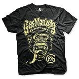 Gas Monkey Garage Officially Licensed Logo T-Shirt Camiseta T Shirt GMG - 100% Oficial (Negro, XX-Large)