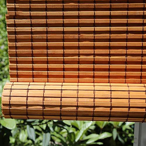ZYFA bamboe rolgordijn bamboe vouwgordijn natuur, zijgeleiding raam deur rolgordijnen houten rolgordijn, bamboe rolgordijn, bamboe rolgordijn, oprolbaar