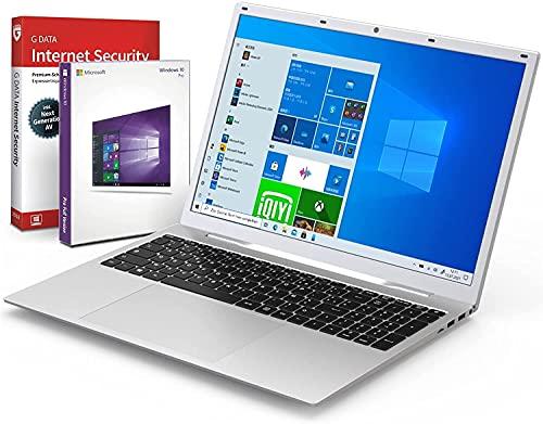 difinity Intel Quad PC Portable 17.3' HD+ (Intel N3450 4x2.2 GHz, RAM 8G, 256G SSD, WLAN, Bluetooth, Windows 10 Pro) Clavier AZERTY Français #6802