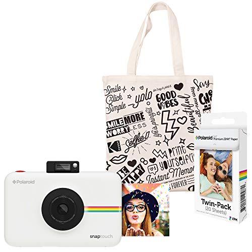 Polaroid Snap Touch Sofortdruck-Digitalkamera (Weiß) Starter Kit mit Tragetasche