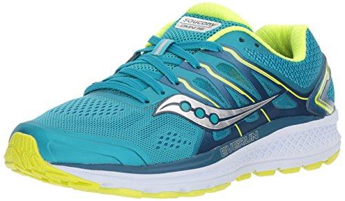 Saucony Women's Omni 16 Running Shoe, Teal/Citron, 7 Medium US