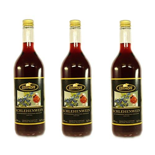 3 Flaschen Schlehenwein á 0,75 Liter 9% vol. Schlehen Wein