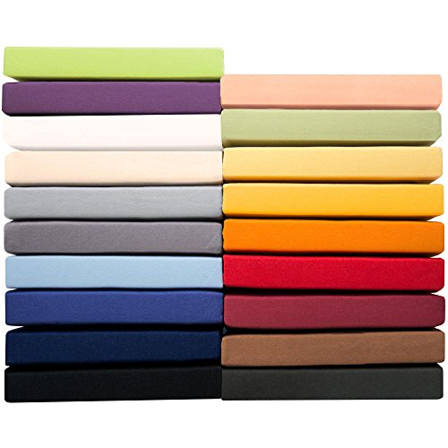 aqua-textil Pur Jersey Spannbettlaken 140x200-160x220 cm anthrazit grau Wasserbett Boxspringbett 160g/qm Mako Baumwolle