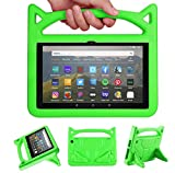 H D 8 Case for Kids(10th Generation, 2020 Release),H D 8 Plus Tablet Case, Riaour Light Weight/Shock-Absorption/Anti Slip/High Impact/Handle Friendly Kids Case for All-New H D 8 Tablet (Green)