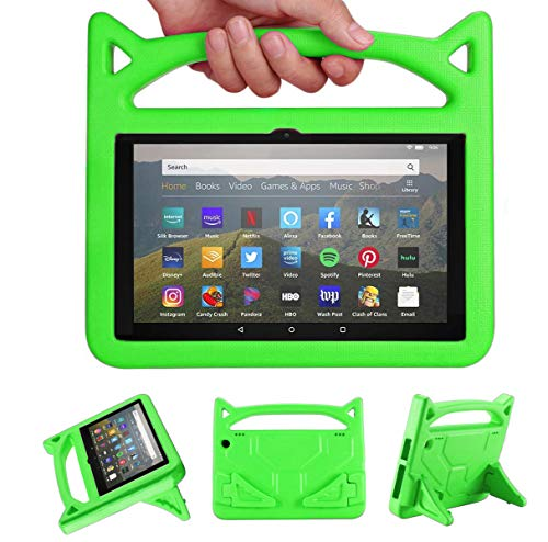 Riaour All-New H D 8tablet Case (10th Generation, 2020 Release),H D 8 Plus Tablet Case, Light Weight/Shock-Absorption/Anti Slip/High Impact/Handle Friendly Kids Case for All-New H D 8 Tablet(Green)