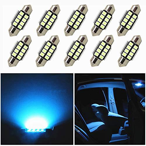 9Pcs Bianco Car Interior Light per New Santa Fe Luci targa Lampade Mappa LED Lettura Bulbi