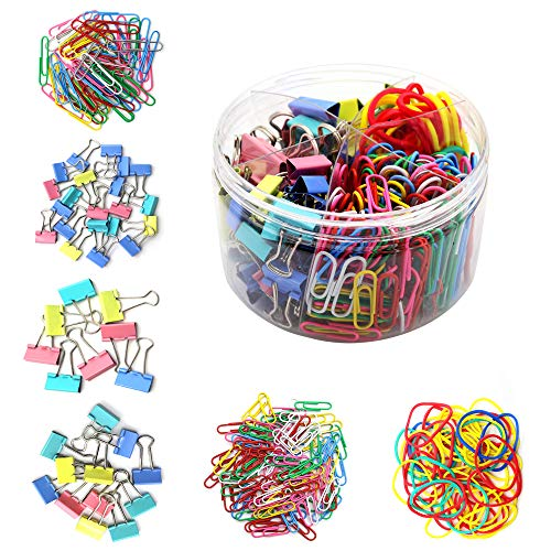 Binder Clips, Paper Clips, Rubber Bands, Assorted Sizes