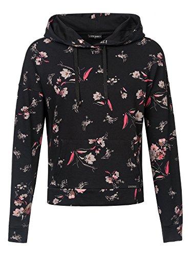 Vive Maria Cosy Flower Hoodie schwarz Allover, Größe:XL