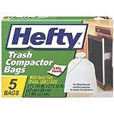 Hefty Trash Bag Compactor 18 Gal. 2.5mil Plastic White