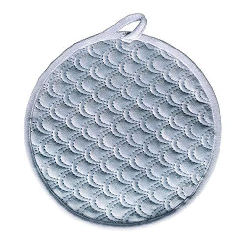 Heizung Tampons isolants Ronds Velvet Coasters Tissu Bols Anti-échappement et Plats de Vaisselle utilisés dans Les Restaurants et Les Cuisines (Color : Haze Blue)