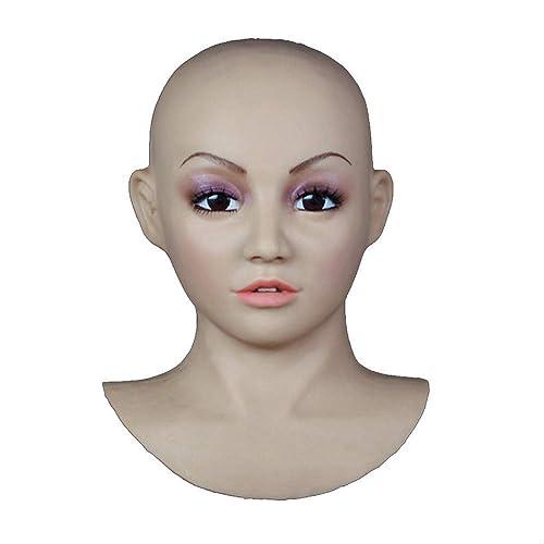 Ahorre 35% - 70% de descuento Sexy máscara de silicona máscaras femeninas femeninas femeninas Pretty Halloween Navidad máscaras ángel cara cosplay hombre a mujer para traVestis travesti transexual utilizando seguro de silicona grado médico caucho  60% de descuento
