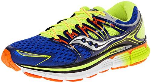 Saucony Men's Triumph ISO Running Shoe,Blue/Citron/Vizi Orange,7.5 W US