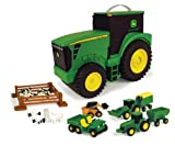 TOMY John Deere Durable Vehicle Toy Set for Kids with...