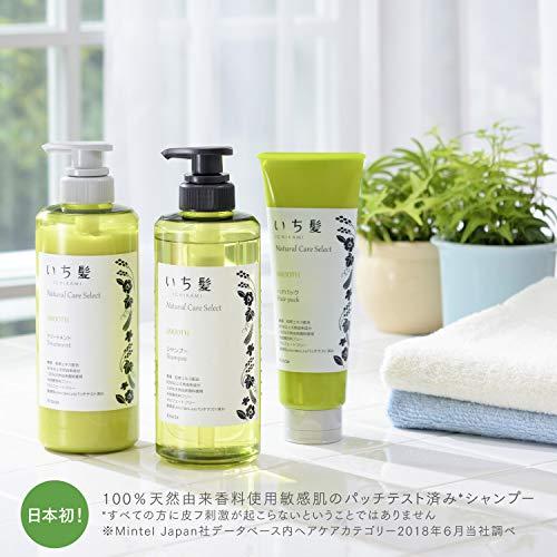 いち髪ナチュラルケアセレクトスムース(さらさら軽やかな指通り)シャンプーポンプ480mLハーバルグリーンの香り