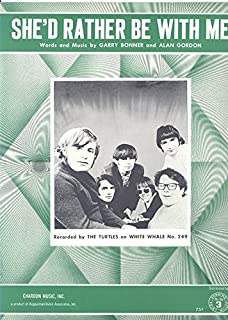 She'd Rather Be With Me Song Sheet 1967 (The Turtles on Cover)
