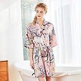 Handaxian Halbarm-Kimono-Unterwäsche aus Polyester und einnahmenbedrucktes Seidenkleid