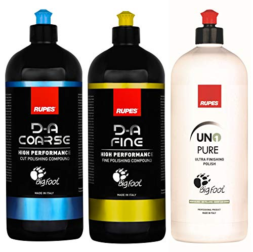 Rupes New DA System Combo Kit | 3X 1 Liter Bottles | Polish & Compound