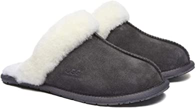 UGG Slippers Wool Rosa Australian Premium Soft Sheepskin Wool Winter Home Cozy Slipper Shoes for Women Men