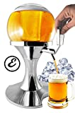 Spillatore Distributore Dispenser Birra E Bevande Refrigerate A Forma Di Bolla Sferico Con Scomparto Ghiaccio Capacità 3.5 Litri - Erogatore Birra e Altre Bevande 25,5 x 25,5 x 41,5 Cm
