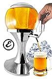 Elegante dispensador de cerveza profesional con hielo