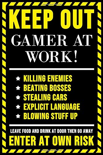 Poster Gaming Keep Out Leave Food At The Door Keep Out Gamer at Work 61x91.5cm