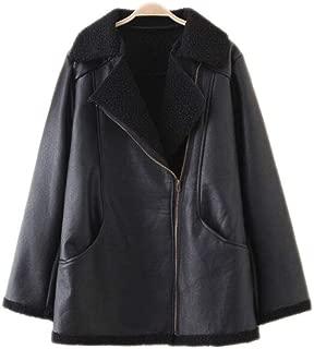 Women's Winter Large Size Zipper Pocket Warm Windproof Hooded Down Jacket (Color : Black, Size : 4XL)
