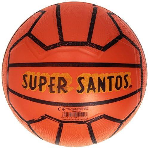 Mondo Toys - Pallone da Calcio SUPER SANTOS  -  per bambina/bambino - colore arancione - 02112