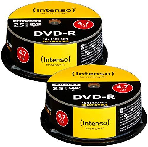 Intenso DVD-R 4.7GB 16x Printable, 50er-Spindel