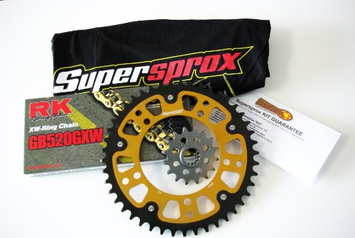 Supersprox Stealth 520 Chain and Sprocket Set for Suzuki GSXR 600 (2006-2010)