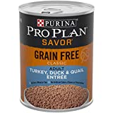oasis foods company - Purina Pro Plan Grain Free, High Protein Wet Dog Food, SAVOR Classic Turkey, Duck & Quail Entree - (12) 13 oz. Cans