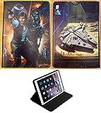 Para IPad mini 1 2 3 4 5 Star Wars Han Solo Chewbacca Death Star nuevo Smart Stand caso cubierta +