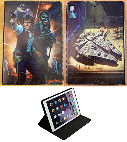 For iPad mini 1 2 3 4 5 Star Wars Han Solo Chewbacca Death Star New Smart Stand Case Cover +