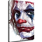 Elliot Dorothy Joker llorando película cómic, arte divertido de pintura al óleo, arte artístico para decoración de recámara, estirada y lista para colgar, lona, Enmarcado, 12x16in.Small