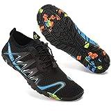 Escarpines Deportes Acuáticos para Hombre Mujer Zapatos de Agua para Buceo Snorkel Surf Piscina Playa Vela Mar Río Aqua Calzado de Natación(SD901 Azul,48 EU)