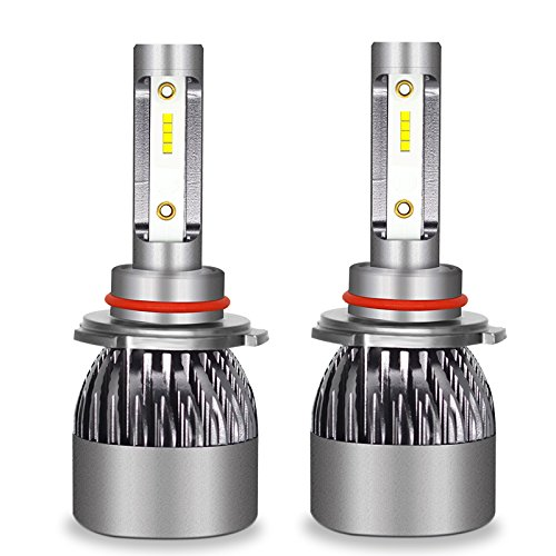 Kit D'ampoules De Phare De Voiture De LED - Kit De Conversion D'ampoules De Kit De Phare De Hi/Lo LED 12V / 24V Remplacent Pour Des Lampes D'halogène,9006