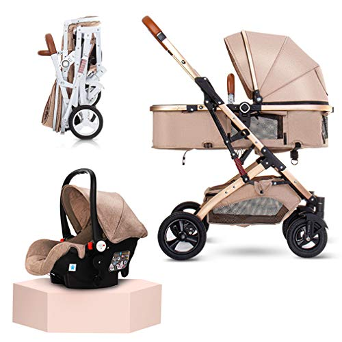 Check Out This FYJK Baby Stroller 3 in 1 High Land-Scape Fashion Carriage, Reclining Lightweight Fol...