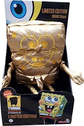 Nickelodeon - Spongebob Schwammkopf - Limited Edition - Goldener Spongebob - Limitiert auf 10000 Stück - ca. 28 cm