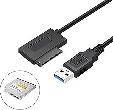 EasyULT Câble Adaptateur USB 3.0 vers SATA 7 + 6 Câble de Lecteur 13 Broches pour..